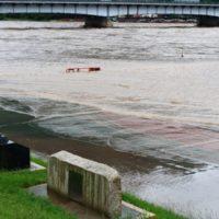 岐阜市、長良橋陸閘が遂に閉鎖!長良川左岸の様子も見てきた。